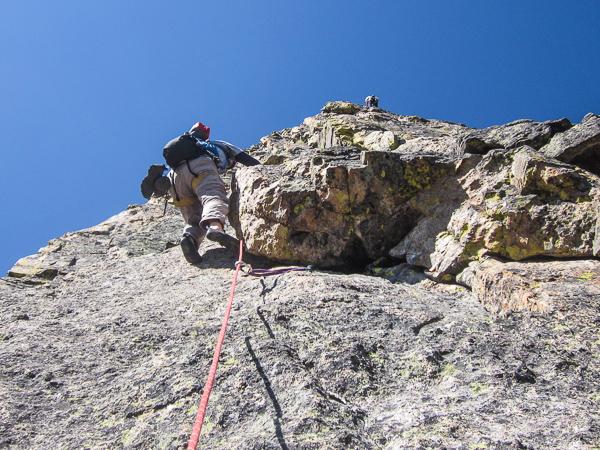 Climbing the Sharkstooth in RMNP