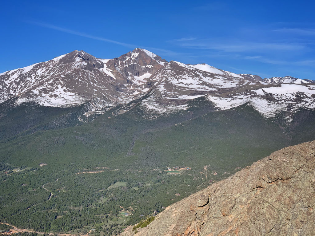 Longs Peak from the summit of Twin Sisters